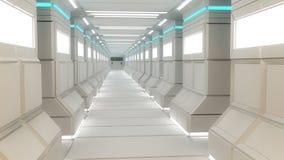Architettura interna futuristica Immagine Stock