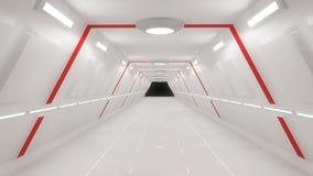 Architettura interna futuristica Fotografie Stock