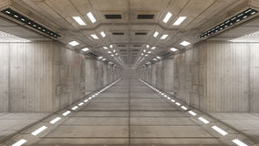 Architettura interna futuristica Immagine Stock Libera da Diritti