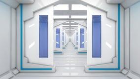 Architettura interna futuristica Fotografia Stock Libera da Diritti