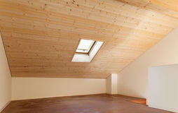 Architettura, interno, casa vuota Immagini Stock
