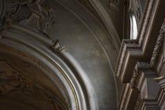 Architettura italiana della chiesa Fotografie Stock Libere da Diritti
