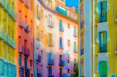 Architettura a Madrid, illustrazione Fotografie Stock Libere da Diritti