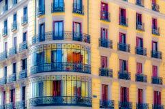 Architettura a Madrid, illustrazione Fotografie Stock