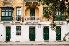 Architettura maltese tradizionale Immagini Stock Libere da Diritti