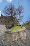 Architettura medioevale nel castello di Edinburgh immagine stock libera da diritti