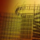 Architettura moderna astratta Fotografie Stock