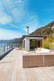 Architettura moderna, bello terrazzo fotografia stock