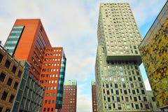 Architettura moderna dei Paesi Bassi di Rotterdam Fotografia Stock Libera da Diritti