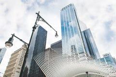 Architettura moderna del World Trade Center Fotografie Stock Libere da Diritti