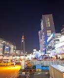 Architettura moderna della città di Tokyo Fotografia Stock Libera da Diritti