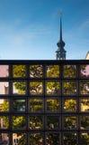 Architettura moderna della città Dresda, Germania Fotografie Stock Libere da Diritti
