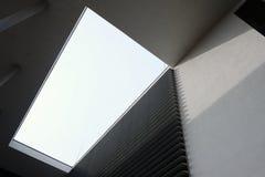 Architettura moderna della costruzione con le forme geometriche Fotografie Stock Libere da Diritti