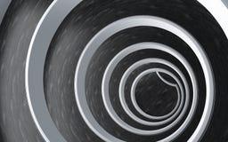 Architettura moderna della rampa a spirale Fotografia Stock Libera da Diritti