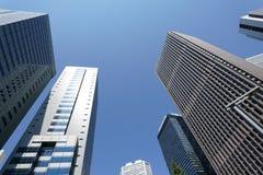 Architettura moderna di affari, tecnologia alta tecnologia a Tokyo Fotografia Stock