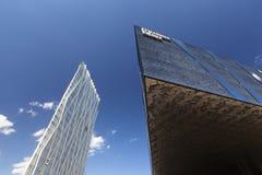 Architettura moderna di Barcellona, di Museu Blau e di ZeroZero diagonale immagini stock