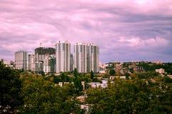 Architettura moderna di grande città Immagini Stock Libere da Diritti