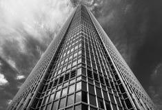 Architettura moderna di Hong Kong in bianco e nero Fotografia Stock Libera da Diritti