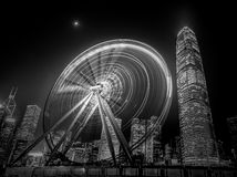 Architettura moderna di Hong Kong in bianco e nero Fotografia Stock