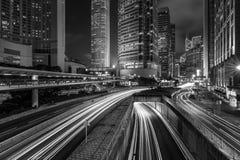 Architettura moderna di Hong Kong in bianco e nero Immagini Stock