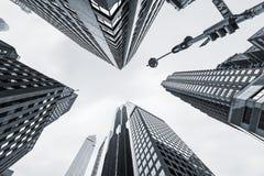 Architettura moderna di Manhattan Immagini Stock