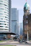 Architettura moderna di Rotterdam nei Paesi Bassi immagine stock libera da diritti