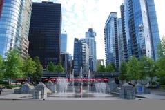 Architettura moderna di Vancouver Immagini Stock Libere da Diritti