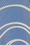 Architettura moderna incurvata del dettaglio del tetto Immagine Stock