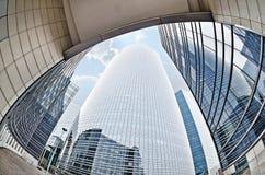 Architettura moderna nel distretto aziendale della difesa della La, Pari fotografie stock