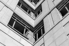 Architettura moderna, progettazione minima ed arte Fotografia Stock Libera da Diritti