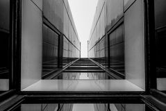 Architettura moderna, progettazione minima ed arte Immagine Stock