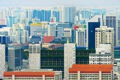 Architettura moderna Singapore della città di densità Immagini Stock Libere da Diritti