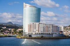 Architettura moderna sulla costa della Martinica Fotografia Stock Libera da Diritti