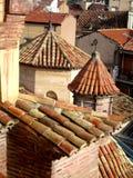 Architettura Mudejar dei tetti di mattonelle Fotografie Stock