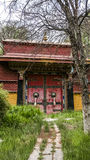 Architettura nel Tibet fotografie stock