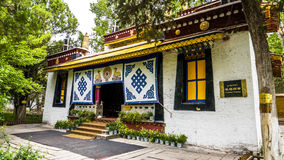Architettura nel Tibet immagini stock