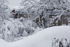 Architettura nell'inverno fotografia stock