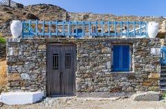 Architettura nell'isola di Kythnos, Cicladi, Grecia Fotografie Stock