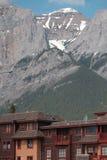 Architettura nelle montagne di Canmore Alberta Immagini Stock Libere da Diritti
