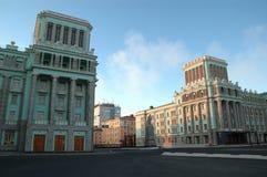 Architettura in Noril'sk (Russia) fotografia stock