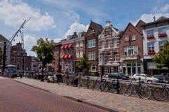 Architettura olandese tipica del centro urbano di Den Bosch Immagini Stock Libere da Diritti