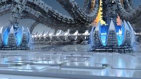 architettura organica futuristica 3D Immagine Stock Libera da Diritti