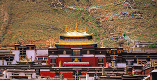 Architettura orientale del tempio antico Fotografia Stock