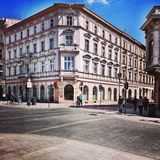 Architettura piacevole a Lodz, Polonia Immagini Stock