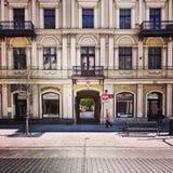 Architettura piacevole a Lodz, Polonia Fotografie Stock