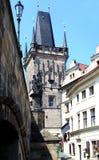 Architettura a Praga Fotografie Stock