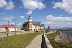 Architettura in Puerto Natales nella Patagonia, Cile Immagine Stock Libera da Diritti
