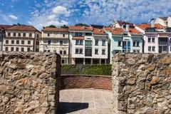 Architettura residenziale della città di Bratislava Fotografie Stock