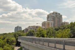 Architettura residenziale di lusso moderna a Kiev, Ucraina Fotografie Stock