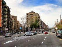 Architettura residenziale moderna di Barcellona Fotografia Stock Libera da Diritti